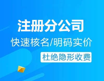 广州代办注册分公司流程费用