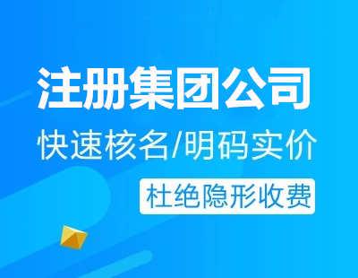 广州代办注册集团公司流程费用