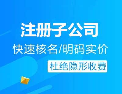广州代办注册子公司流程费用